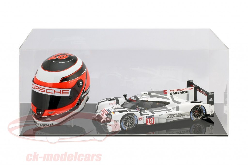 high-quality-showcase-for-1-helmet-in-scale-1-2-and-1-modelcar-in-scale-1-18-black-safe-ck99918007/