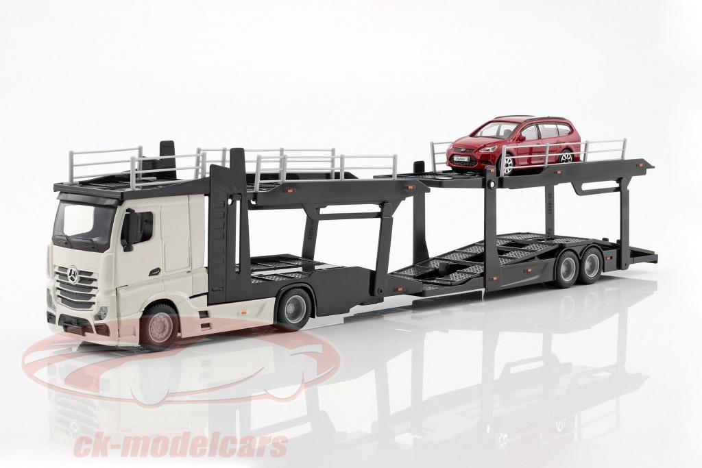 bburago-1-43-mercedes-benz-actros-autotransporter-mit-ford-focus-weiss-rot-31459-31456/