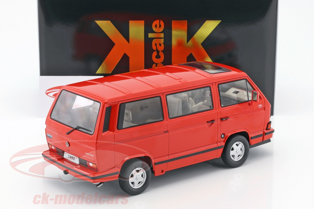 VW T3 Bus Multivan 1992 blau metallic Modellauto 1:18 KK Scale