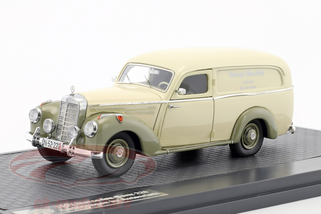 matrix-1-43-mercedes-benz-220-van-by-autenrieth-annee-de-construction-1952-beige-gris-vert-mx11302-201/
