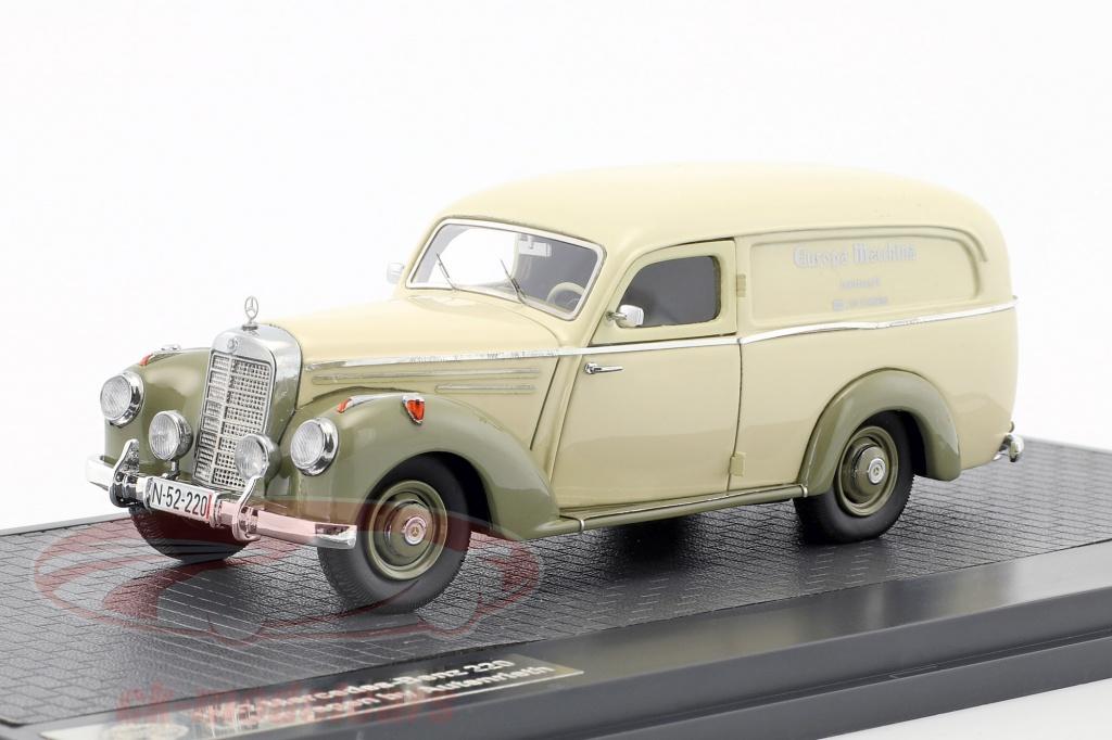 matrix-1-43-mercedes-benz-220-van-by-autenrieth-year-1952-beige-gray-green-mx11302-201/