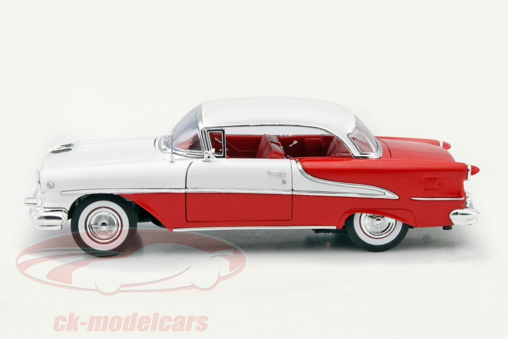 Welly 1:18 Oldsmobile Super 88 Coupe year 1955 red / white 19869W