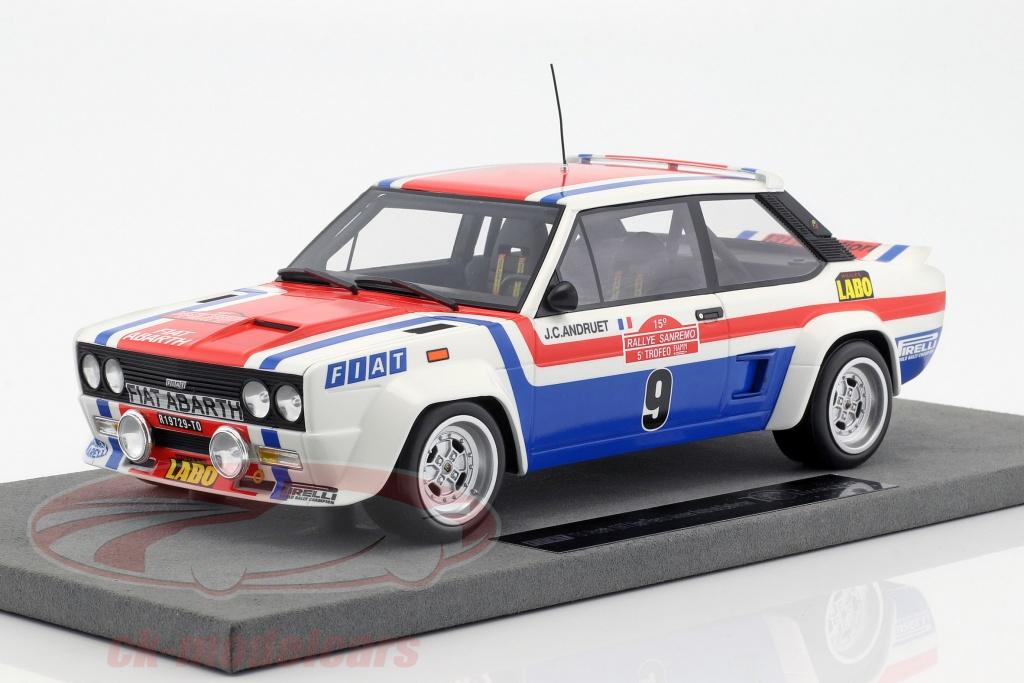 topmarques-1-18-fiat-131-abarth-no9-winner-rallye-san-remo-1977-andruet-delferrier-top43a/