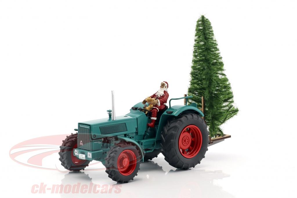schuco-1-32-hanomag-robust-900-traktor-mit-weihnachtsmann-und-baum-gruen-450780200/