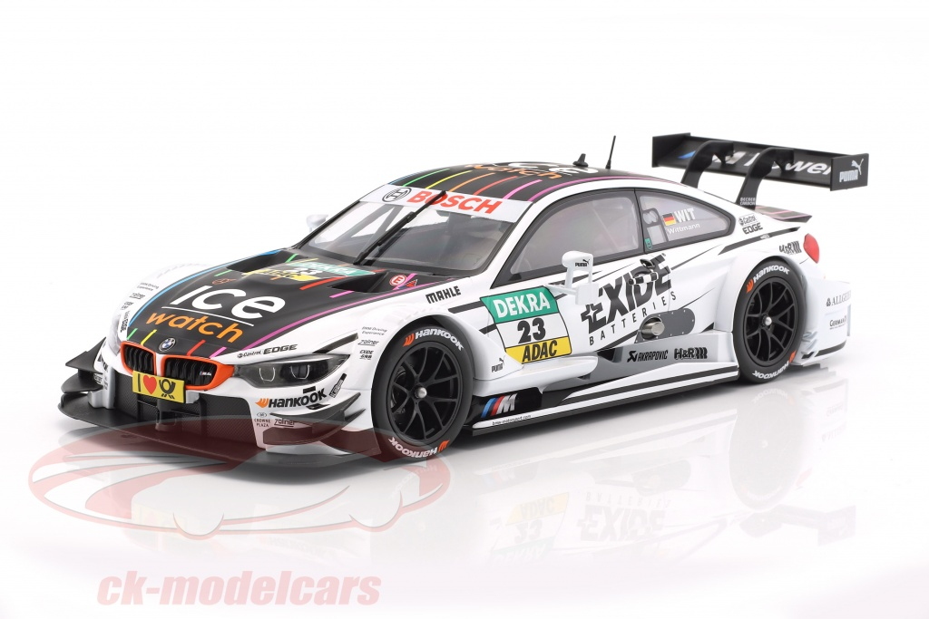 norev 1 18 marco wittmann bmw m4 f82 23 dtm champion. Black Bedroom Furniture Sets. Home Design Ideas