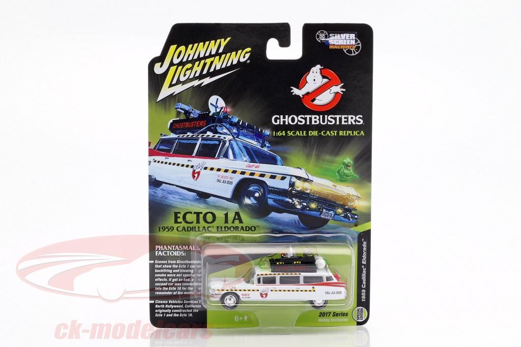 johnnylightning-1-64-cadillac-eldorado-ecto-1a-bouwjaar-1959-film-ghostbusters-ii-1989-wit-rood-jlss004/
