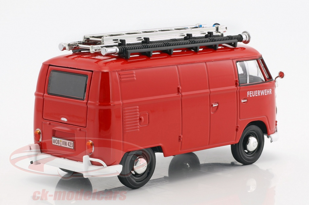 VW T1 Feuerwehr rot 1:24 Motor Max Modellauto