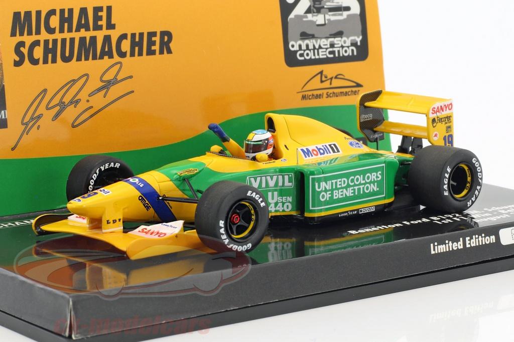 minichamps-1-43-michael-schumacher-benetton-b192-no19-prima-f1-vittoria-belgio-gp-formula-1-1992-517924318/