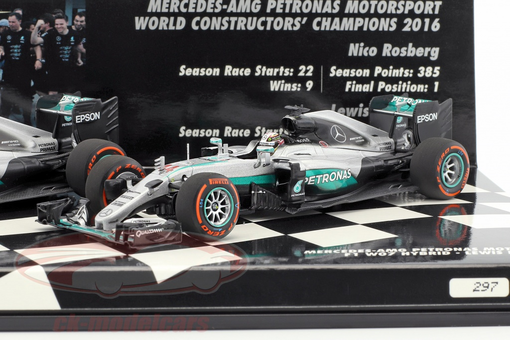 Minichamps 1 43 2 Car Set Mercedes Amg Petronas F1 Team Constructors