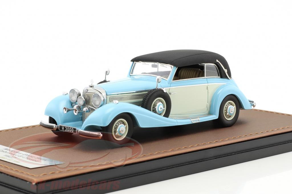 great-lighting-models-1-43-mercedes-benz-540k-cabriolet-b-closed-version-year-1937-light-blue-white-glm205303/