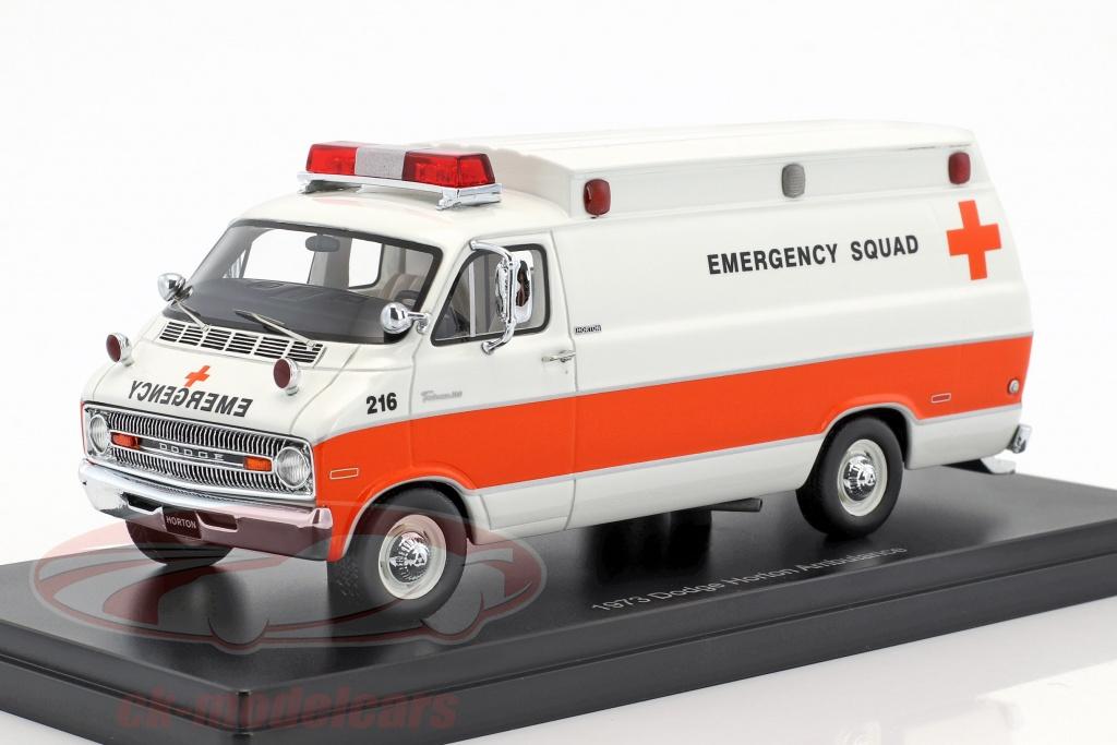 neo-1-43-dodge-horton-ambulance-annee-de-construction-1973-blanc-orange-neo46941/