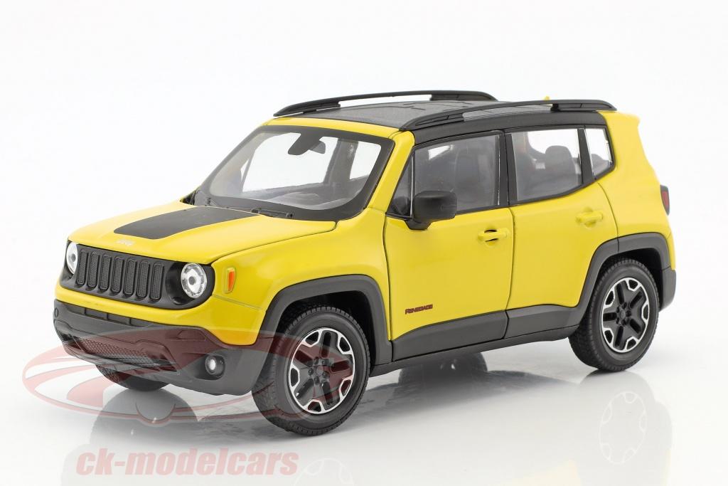 welly-1-24-jeep-renegade-trailhawk-opfrselsr-2016-gul-sort-24071/