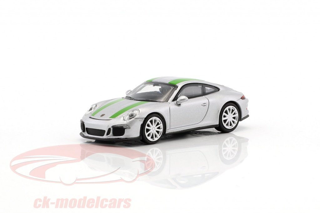 minichamps-1-87-porsche-911-991-r-year-2016-silver-with-green-stripes-870066225/