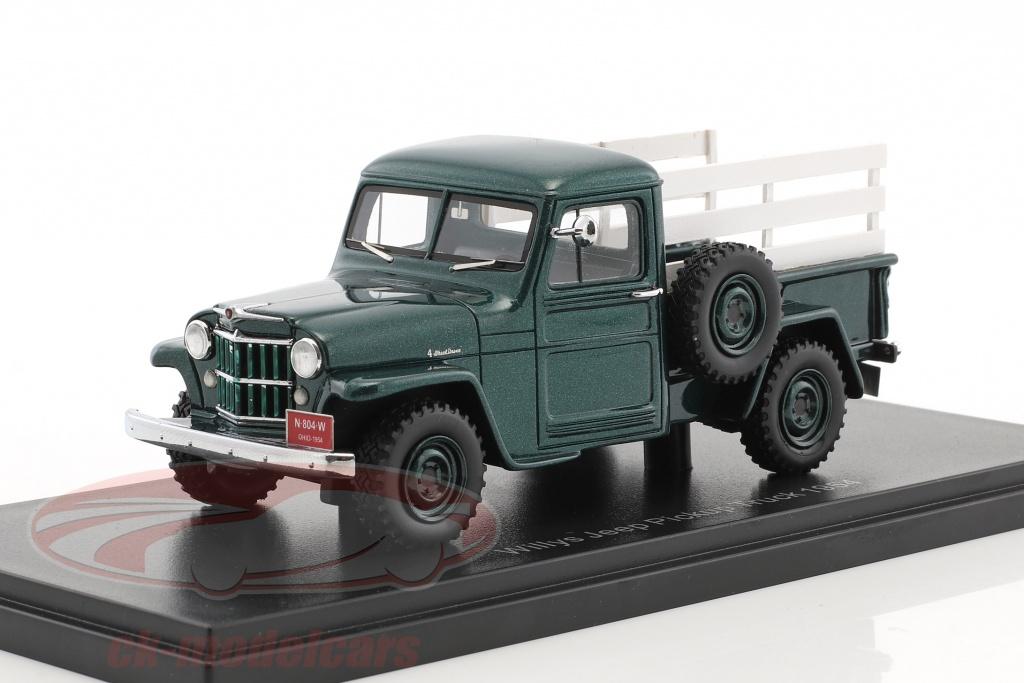 neo-1-43-jeep-pick-up-anno-1954-verde-ottica-di-legno-neo45804/