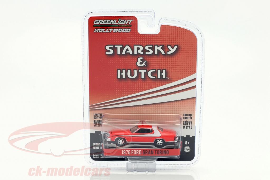 greenlight-1-64-ford-gran-torino-ano-de-construccion-1976-series-de-television-starsky-hutch-1975-1979-rojo-44780a/