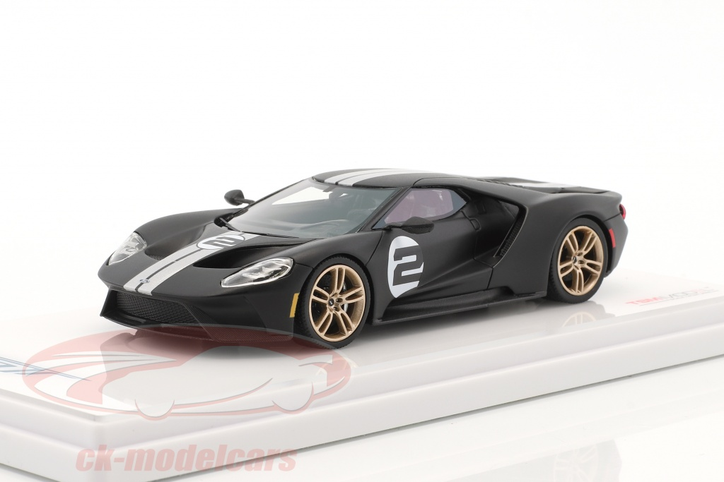true-scale-1-43-ford-gt-heritage-edition-2017-mat-black-tsm430136/