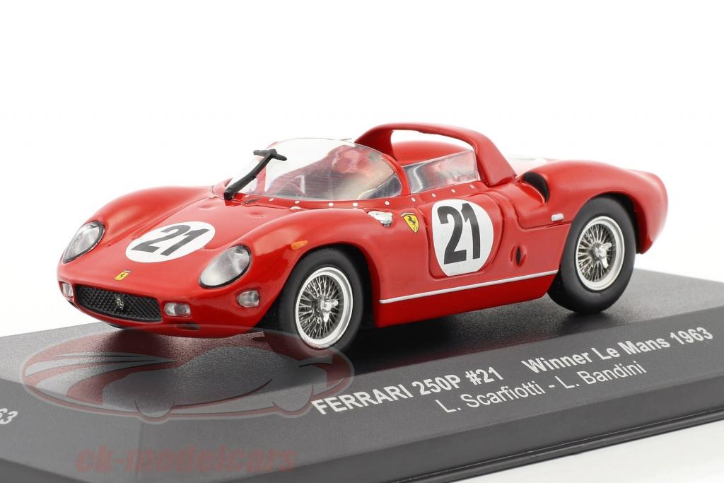 ixo-1-43-ferrari-250p-no21-vinder-24h-lemans-1963-scarfiotti-bandini-lm1963/