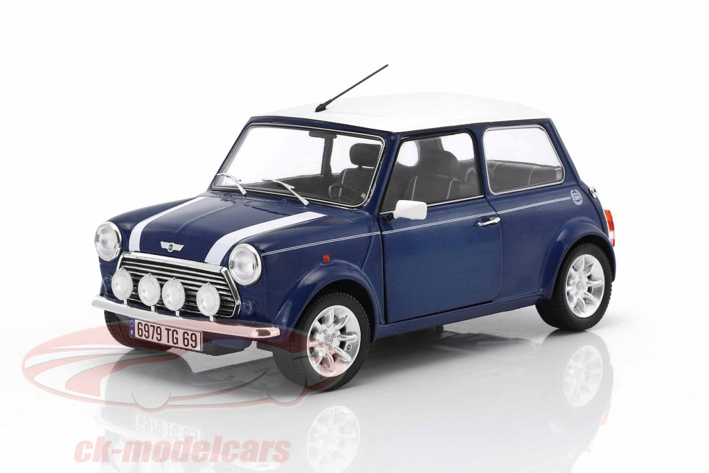 solido-1-18-mini-cooper-13i-sport-pack-annee-de-construction-1997-bleu-metallique-blanc-s1800601/