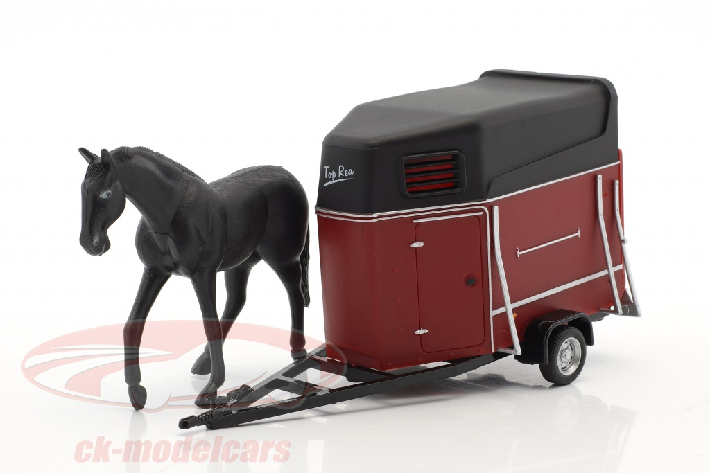 cararama-1-43-horse-trailer-with-horse-dark-red-black-481-012/