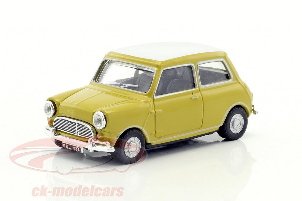 cararama-1-43-mini-cooper-annee-de-construction-1969-moutarde-jaune-blanc-mini03g/
