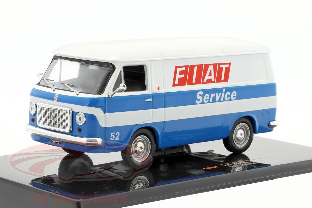 ixo-1-43-fiat-238-furgone-fiat-service-anno-di-costruzione-1971-bianco-blu-clc300/