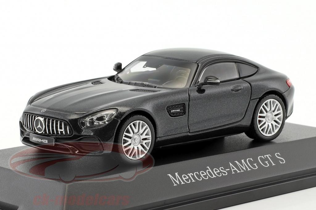 norev-1-43-mercedes-benz-amg-gt-s-coupe-magnetit-sort-metallisk-b66960435/
