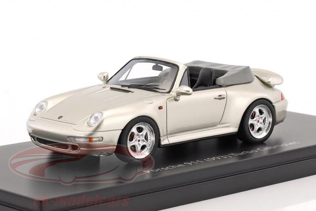 schuco-1-43-porsche-911-993-turbo-cabriolet-silver-gray-metallic-450887900/