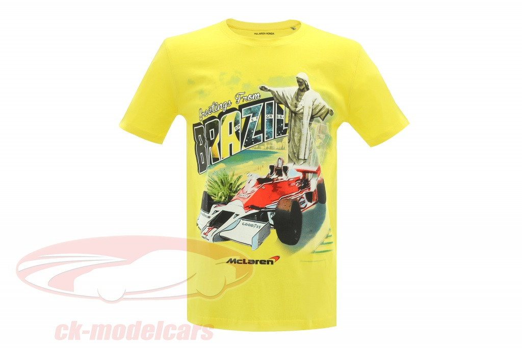 mclaren-greetings-from-brazil-james-hunt-mclaren-m23-t-shirt-jaune-mh4027s/s/