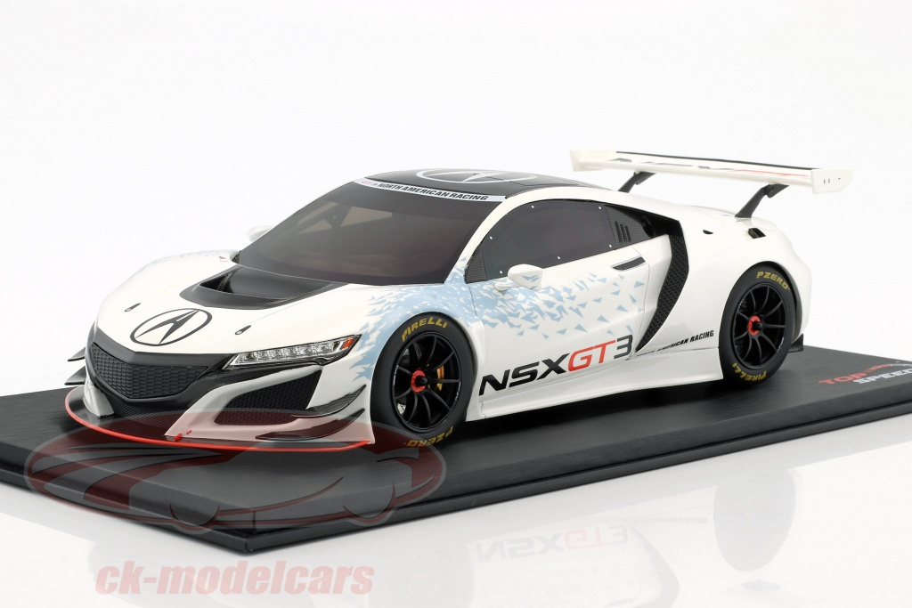 true-scale-1-18-acura-nsx-gt3-presentation-car-new-york-auto-show-2016-white-ts0081/