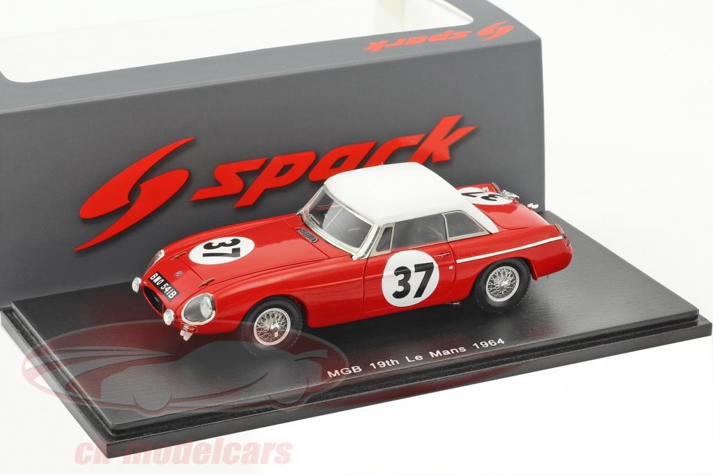 spark-1-43-mg-mgb-hardtop-no37-24h-lemans-1964-hedges-hopkirk-s5078/