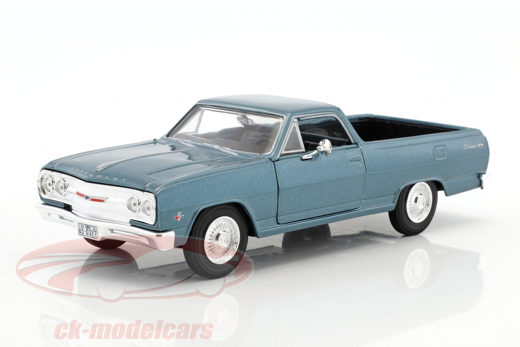 maisto-1-24-chevrolet-el-camino-year-1965-blue-metallic-31977/
