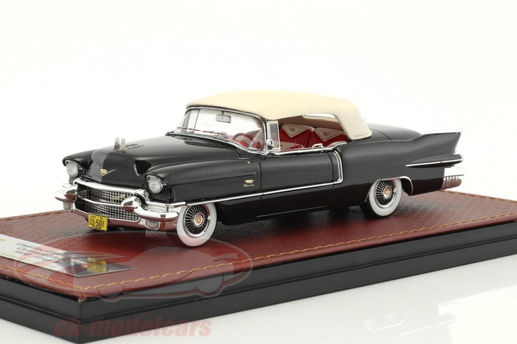 great-lighting-models-1-43-cadillac-eldorado-biarritz-convertible-closed-top-annee-de-construction-1956-sombre-gris-metallique-blanc-glm120502/