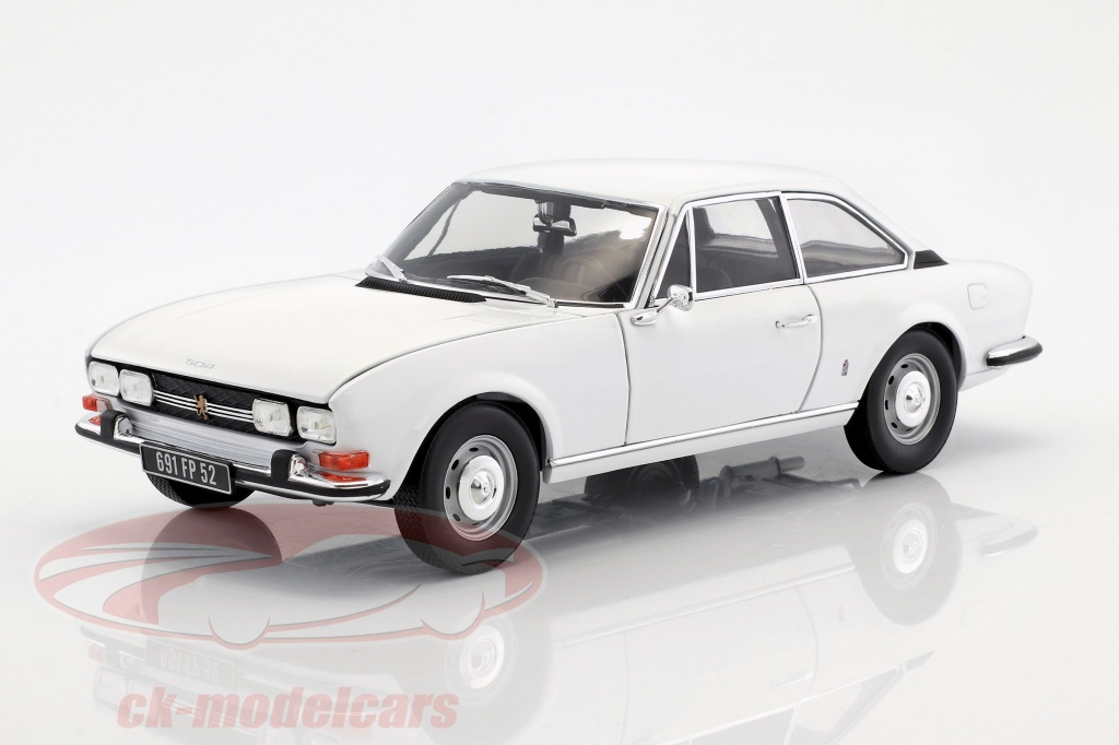 Norev 1 18 Peugeot 504 Coupe Year 1969 White 184825 Model Car