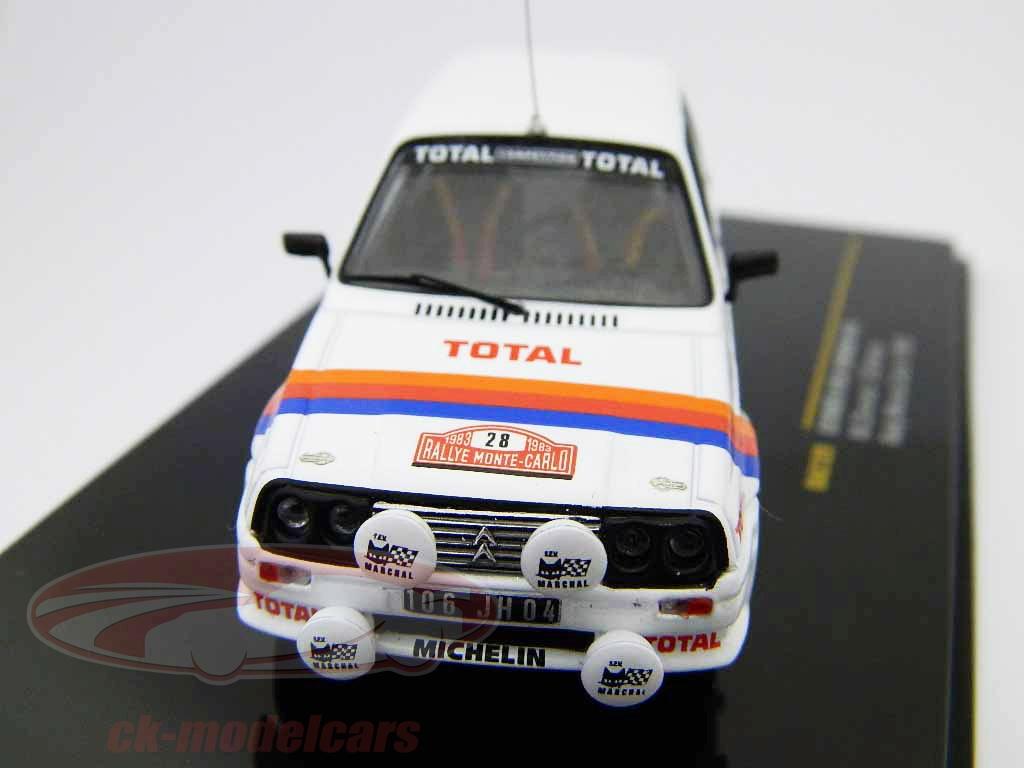 ixo-1-43-citroen-visa-chrono-no28-chomat-breton-monte-carlo-rally-1983-rac129/
