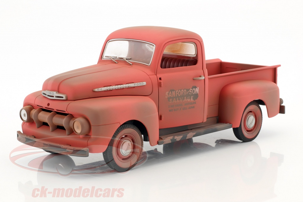 greenlight-1-18-ford-f-1-pick-up-annee-de-construction-1952-serie-tv-sanford-son-1972-77-rouge-12997/