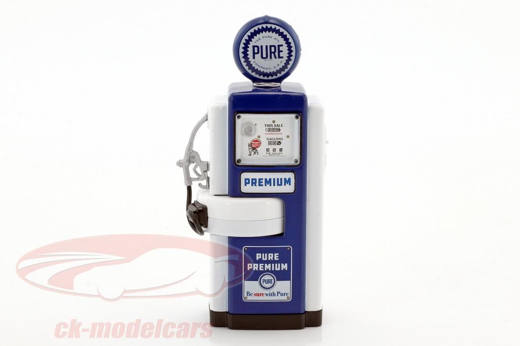 greenlight-1-18-wayne-100-a-pure-oil-gas-pump-1948-blue-white-14030-a/