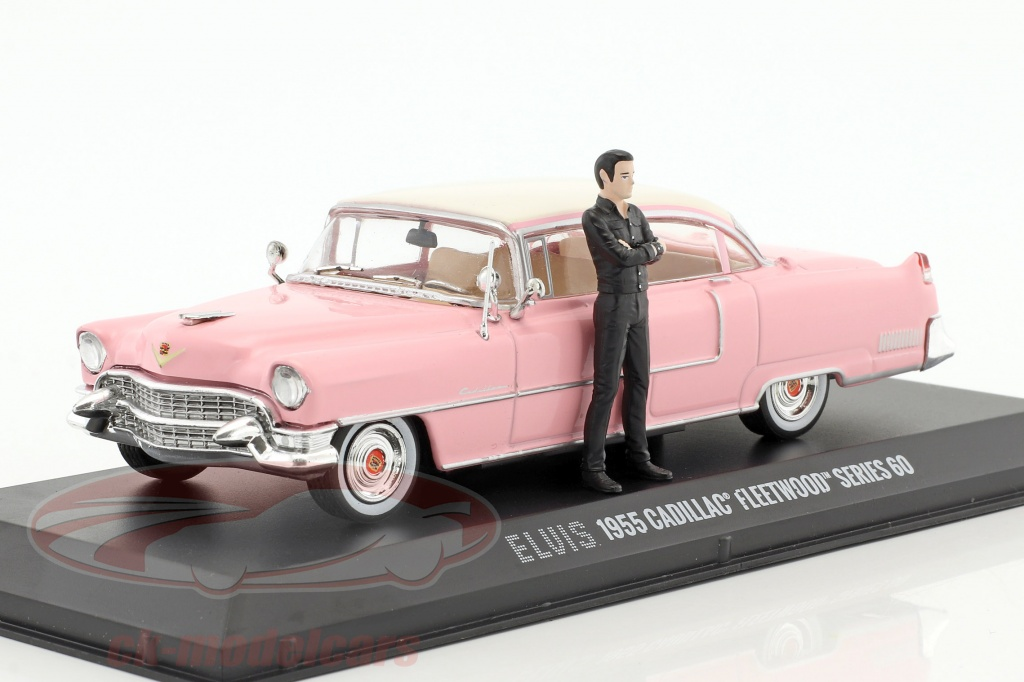 greenlight-1-43-cadillac-fleetwood-series-60-year-1955-pink-with-figure-elvis-presley-86436/