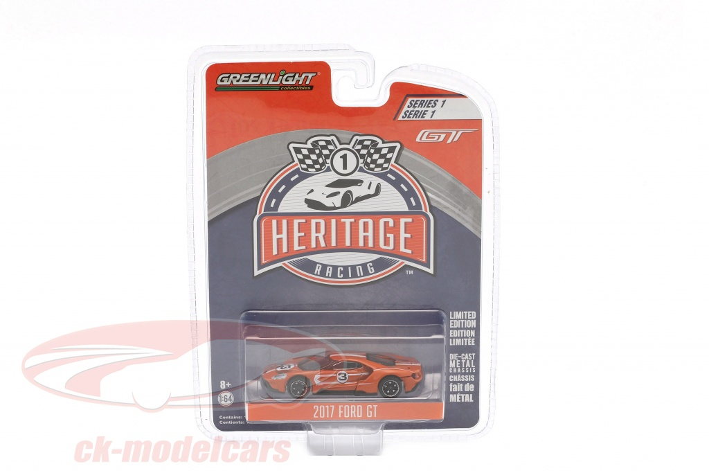 greenlight-1-64-ford-gt-annee-de-construction-2017-no3-ford-gt40-mk-iv-1967-hommage-racing-heritage-series-orange-13200-f/