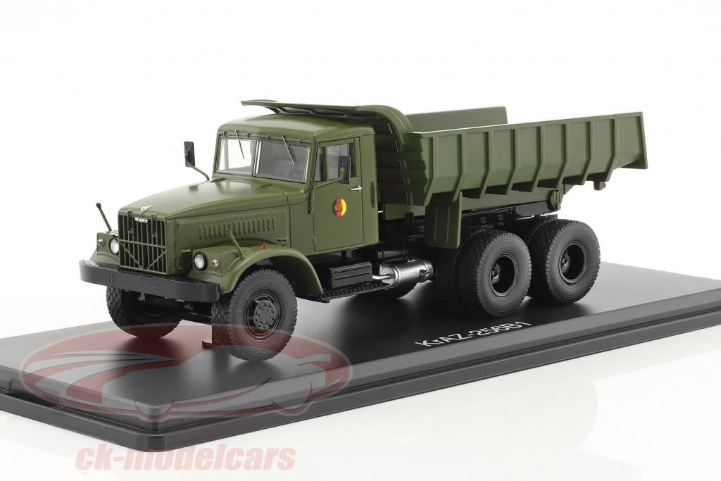 premium-classixxs-1-43-kraz-256b1-dump-truck-nva-olive-green-pcl47043/