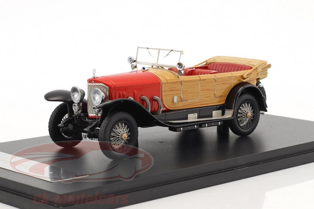 neo-1-43-mercedes-28-95-ps-rhd-anno-1922-rosso-ottica-di-legno-neo46171/