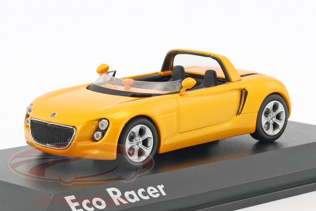 norev-1-43-volkswagen-vw-eco-racer-concept-car-year-2005-ocher-yellow-metallic-840110/