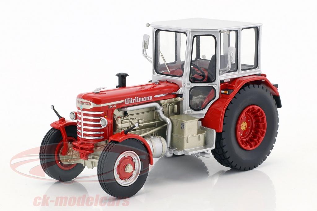 schuco-1-43-huerlimann-dh-6-tractor-rood-zilver-450902700/