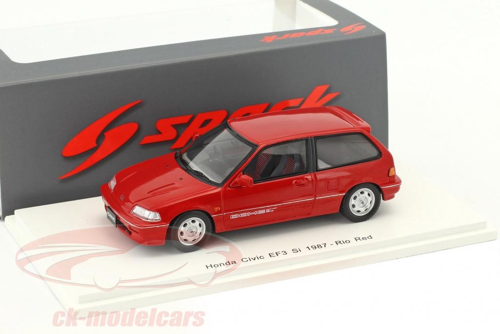 spark-1-43-honda-civic-ef3-si-anno-di-costruzione-1987-rosso-s5451/