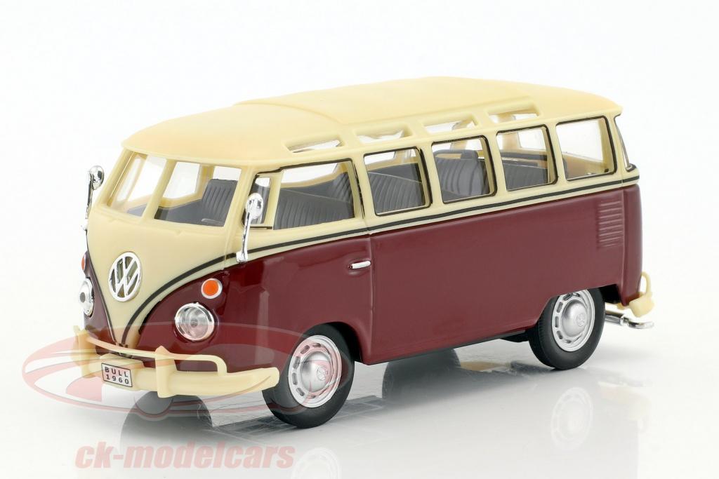 cararama-1-43-volkswagen-vw-t1-samba-bus-dark-red-creamy-white-4-60390/
