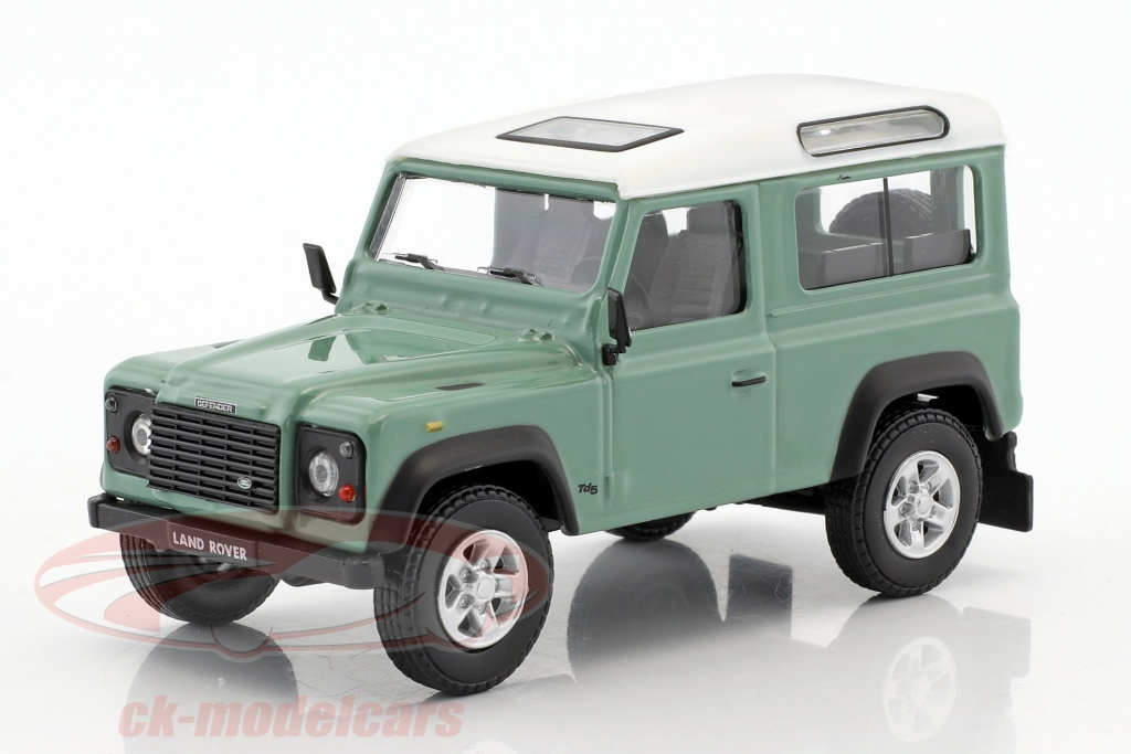cararama-1-43-land-rover-defender-90-light-green-white-4-55240/
