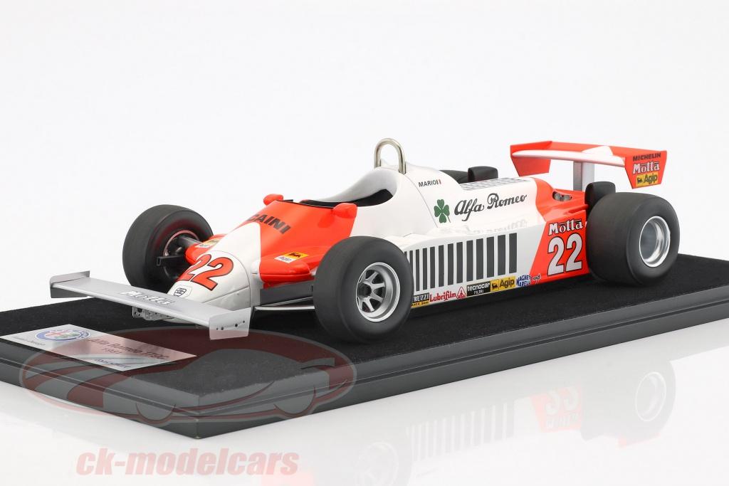 looksmart-1-18-mario-andretti-alfa-romeo-179c-no22-allemand-gp-formule-1-1981-avec-vitrine-lsar10/