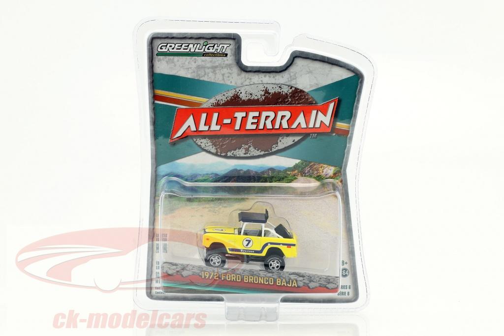 greenlight-1-64-ford-bronco-baja-all-terrain-year-1972-yellow-35090-b/