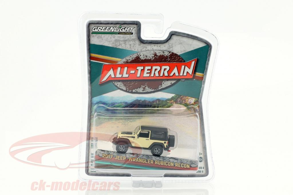greenlight-1-64-jeep-wrangler-rubicon-recon-all-terrain-annee-de-construction-2017-beige-noir-35090-e/