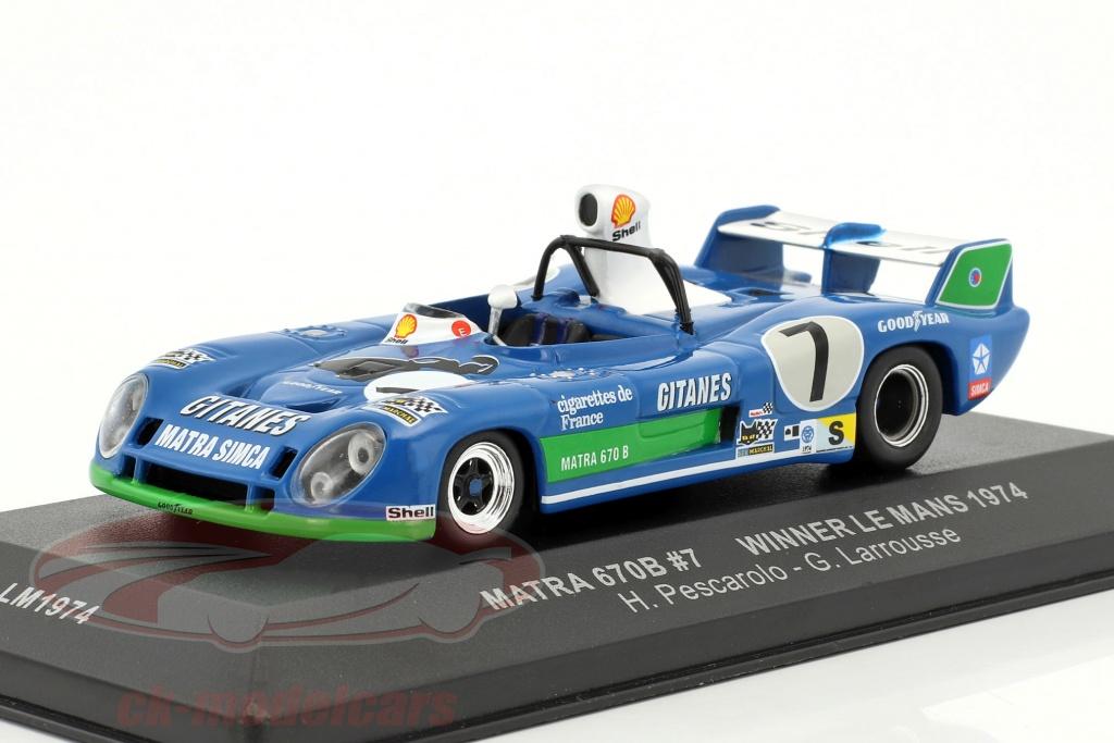 ixo-1-43-matra-670b-no7-winner-24h-lemans-1974-pescarolo-larrousse-lm1974/