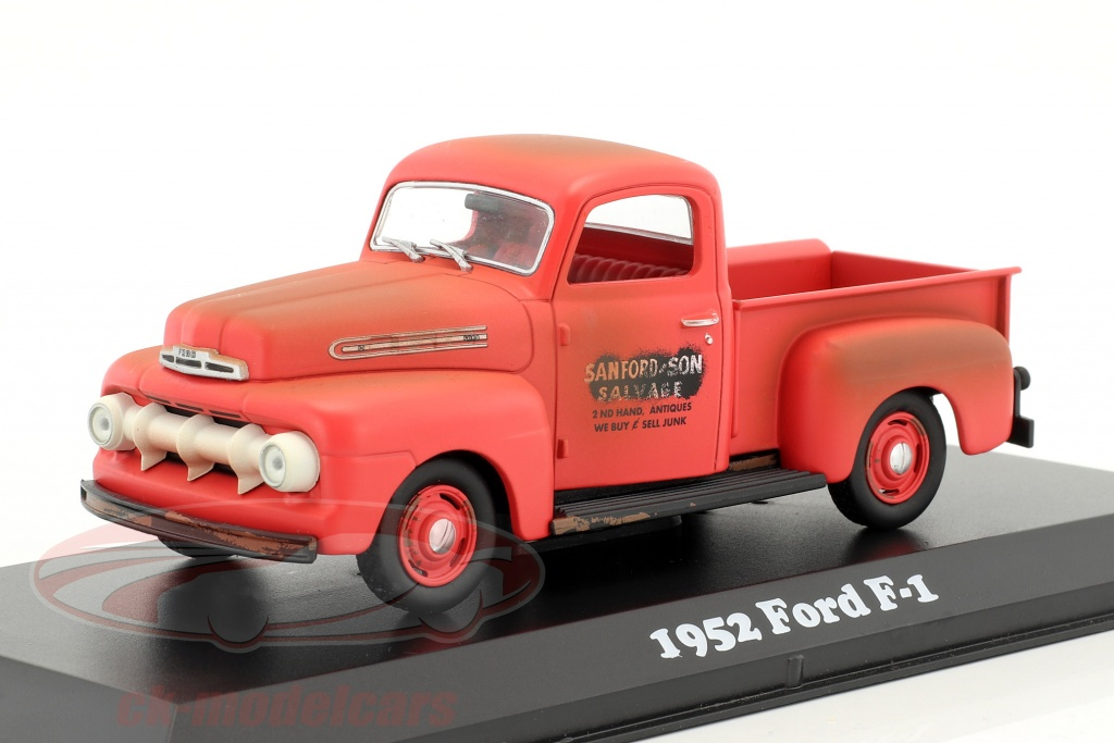 greenlight-1-43-ford-f-1-pick-up-baujahr-1952-tv-serie-sanford-son-1972-77-rot-86521/